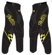 Faith Race Pants Black/Yellow Youth